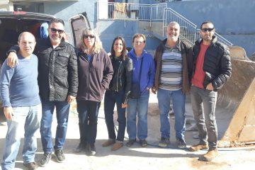 נציגים ממשרד להגנת סביבה מחוז צפון מבקרים בתחנת מעבר כפר קאסם וקלנסווה לטיפול בפסולת מצוקה